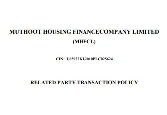 Related Party Transactions Policy